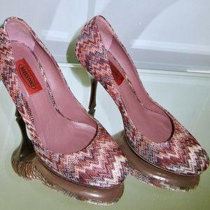gorgeous NEW Missoni zigzag heels new 38 7.5